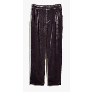 Madewell taper pleated pull-on pants- M